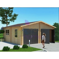 Double wooden garage